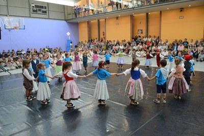 La actuación final del encuentro se hizo en el Regina Carmeli (foto: Localpres).