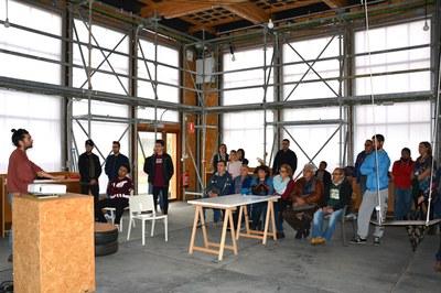 Los estudiantes han conocido las características arquitectónicas de Ressò.