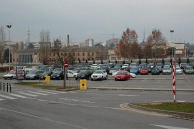 El aparcamiento del Escardívol.
