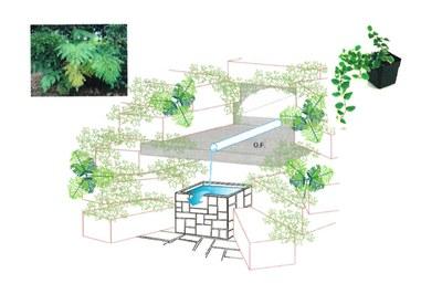 Imagen virtual del aspecto que presentará la fuente una vez arreglada.