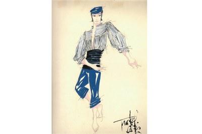En la muestra se podrán ver figurines de varias coreografías de Albert Sans.