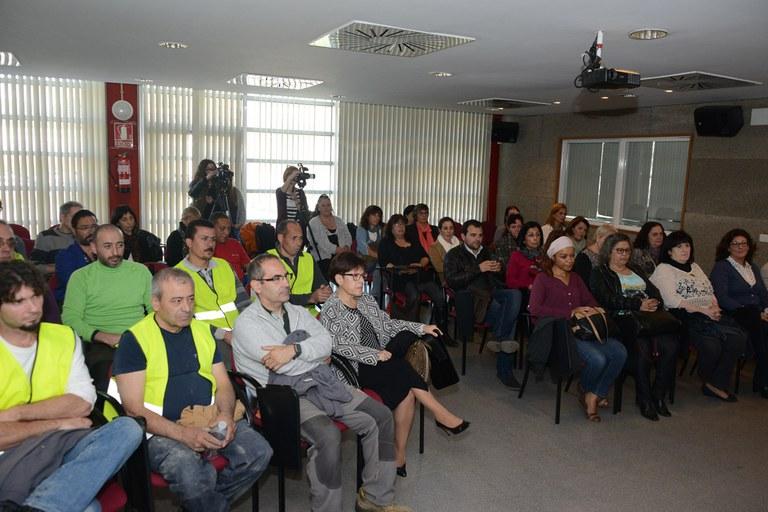Los trabajadores contratados (foto: Localpres)