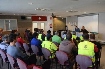Los nuevos trabajadores han sido recibidos por Ana María Martínez y Rafael Güeto en el Rubí+D (foto: Localpres).