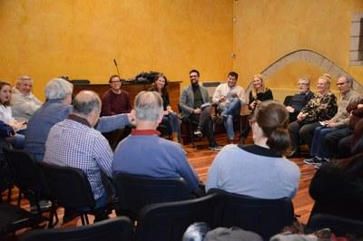 Comisión de Fiesta Mayor celebrada en febrero (foto: Localpres).