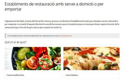 Detalle de la web municipal (foto: Ayuntamiento de Rubí).