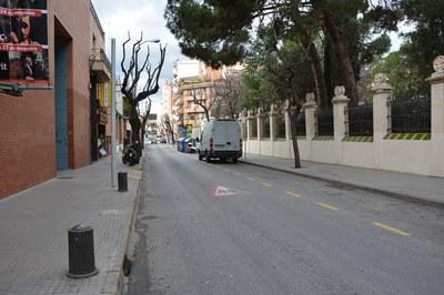 Las obras en la calle Cervantes se concentrarán en el tramo comprendido entre las calles García Lorca y Joan Maragall.