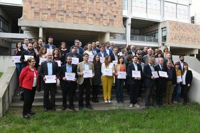 Representantes de las administraciones galardonadas (foto: Localpres).