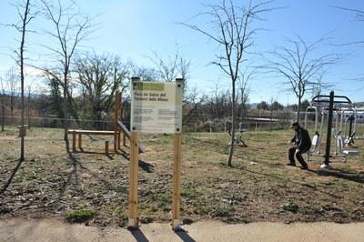 El nuevo parque de salud está ubicado cerca del torrente de los Alous, una zona donde la ciudadanía va a realizar deporte (foto: Localpres)