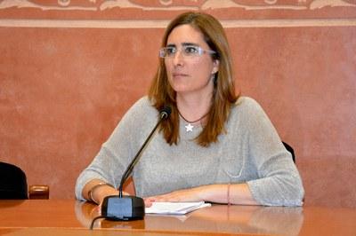 Maria Mas ha reclamado a la Generalitat servicios que considera imprescindibles para una ciudad de 75.000 habitantes.