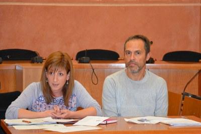 Marta García ha explicado el plan de trabajo acompañada por Toni Royo, consultor en cooperación al desarrollo.