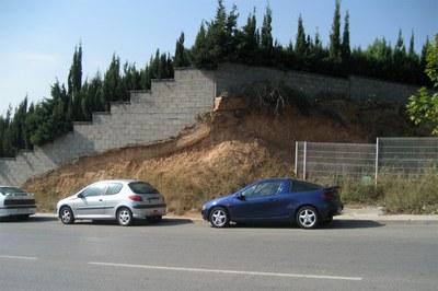 Una de las parcelas afectadas por las obras.