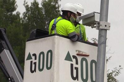 La instalación de las cámaras está previsto que esté terminada a finales de año (foto: Ayuntamiento de Rubí).