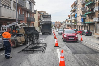 Los nuevos cojines berlineses forzarán a los conductores a reducir la velocidad (foto: Ayuntamiento de Rubí - Localpres).
