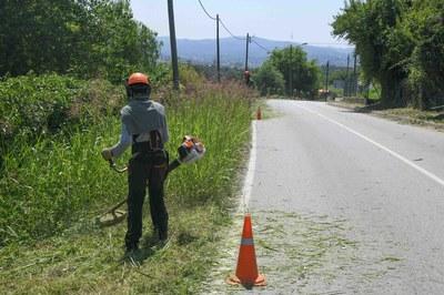 Las tareas de desbroce en las urbanizaciones se realizan de forma cíclica (foto: Ayuntamiento de Rubí - Localpres).