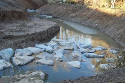 Las tareas de mejora del torrente de l'Oriol está previsto que finalicen a finales de marzo.