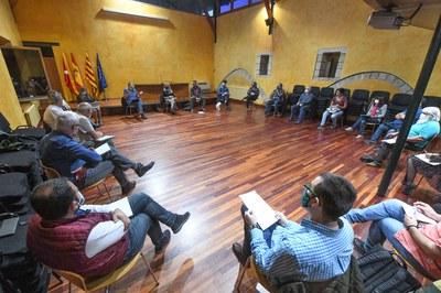 La Mesa de seguimiento de los vertederos se ha reunido este miércoles en el Castell (foto: Ayuntamiento de Rubí - Localpres).