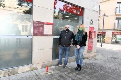 El acto de homenaje ha tenido lugar este miércoles (foto: Ayuntamiento de Rubí - Localpres).