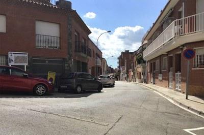 En este tramo de la calle Castelló se renovará la red de agua potable (foto: Ayuntamiento de Rubí).