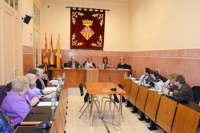 La alcaldesa y la concejala del Área de Servicios Sociales han presidido el Plenario del Consejo Consultivo de las Personas Mayores (foto: Localpres)