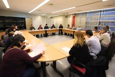 Este jueves se ha celebrado una nueva Mesa por el derecho a la vivienda, la primera bajo esta nueva denominación (foto: Localpres).