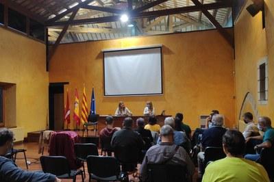 La Comisión Municipal de la Energía se ha reunido para conocer el estado del desplazamiento de la línea eléctrica de Can Fatjó (foto: Ayuntamiento de Rubí).