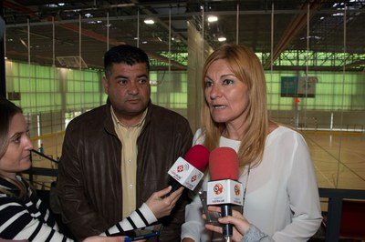La alcaldesa, Ana María Martínez, y el concejal de Deportes, Juan López (foto: Localpres).