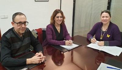 Enric Garcia Romero, Ànnia Garcia Moreno y Judith Gifreu i Font (foto: Ayuntamiento de Rubí).