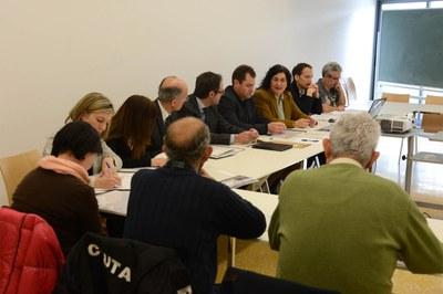 La comisión de seguimiento de este lunes, la última del proyecto, se ha celebrado en el Centro Cívico del Pinar: La Cruïlla (foto: Localpres).
