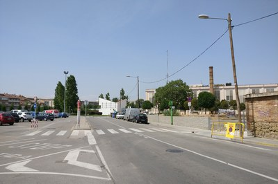 Zona afectada por las obras.