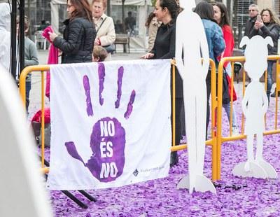 El punto 'No es no'  estará en el Celler durante el baile de Carnaval (foto: Ayuntamiento – Localpres).