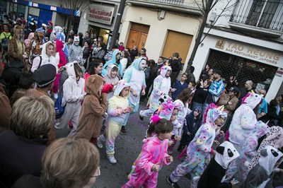 El desfile ha pasado por el centro de la ciudad (foto: Ayuntamiento de Rubí - Lali Puig).