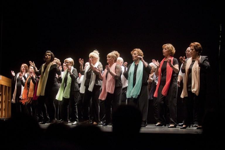 Actuación del grupo de gospel (foto: Localpres)