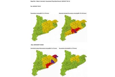 El CECAT pone en fase de prealerta el Plan INUNCAT como consecuencia de la previsión de precipitaciones intensas.