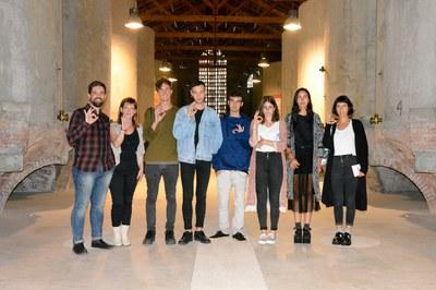 Los organizadores del Peacock Rubí Arte Festival con los concejales de Cultura y Juventud.