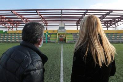 Un momento de la visita de obras (foto: Ayuntamiento de Rubí – Artur Ribera).