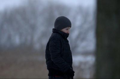 El Magomed es uno de los niños refugiados que aparecen en la película.