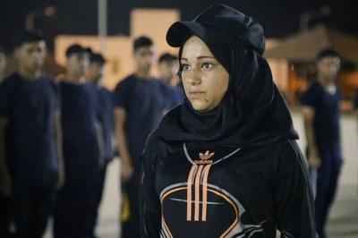 Walaa está empeñada en formar parte de la policía palestina.