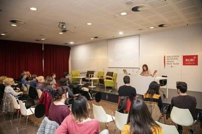 La concejala Marta García, durante su intervención en el acto (foto: Ayuntamiento – Lali Puig).
