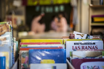 La Biblioteca escolar es un servicio esencial por los centros educativos (foto: Ayuntamiento de Rubí – Cesar Font).