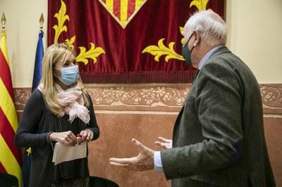La alcaldesa y el resposanble de la Cámara han explicado la iniciativa (Foto: Ayuntamiento/Lali Puig).