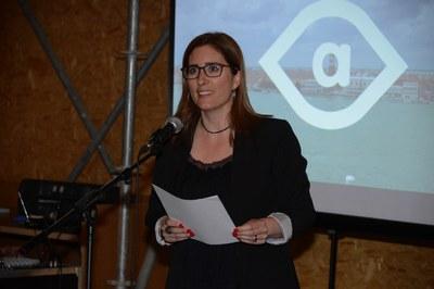 """Maria Mas ha presidido el acto preinaugural del Congreso de Arquitectura 2016 en el edificio """"Ressò"""" de Sant Muç (foto: Localpres)."""