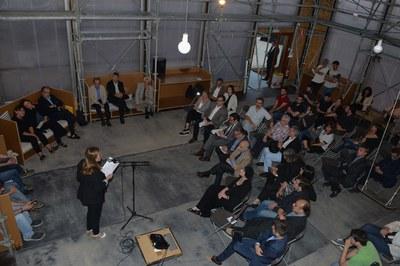 """El acto preinaugural del Congreso de Arquitectura 2016 ha tenido lugar en el edificio """"Ressò"""" de Sant Muç (foto: Localpres)"""