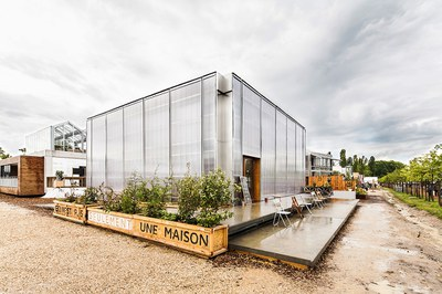 El prototipo de edificio sostenible del equipo 'Ressò' se instalará próximamente en la urbanización de Sant Muç (foto: ETSAV).