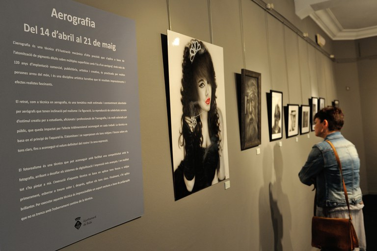 "Exposición ""Aerografía"" (foto: Localpres)"