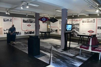 """La exposición """"Cien años de tren"""" se puede visitar en la Antiga Estació (foto: Localpres)."""