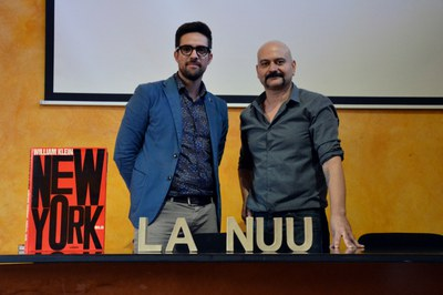 El concejal de Cultura, Moisés Rodríguez, y el director de La Nuu, Carles Mercader.