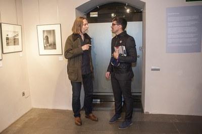 Klavdij Sluban con el concejal de Cultura, Moisés Rodríguez (foto: Cesar Font).