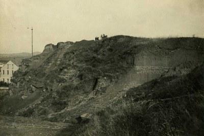 Necrópolis de Can Fatjó de 1918 (foto: Archivo Museu d'Arqueologia de Catalunya Fondo arqueológico).