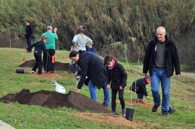 El año pasado, la plantada tuvo lugar en el parque de Can Sant Joan (foto: Localpres).