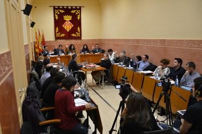 Momento del Pleno en que se ha votado la modificación puntual de las normas urbanísticas del PGOU relativas a las zonas industriales.